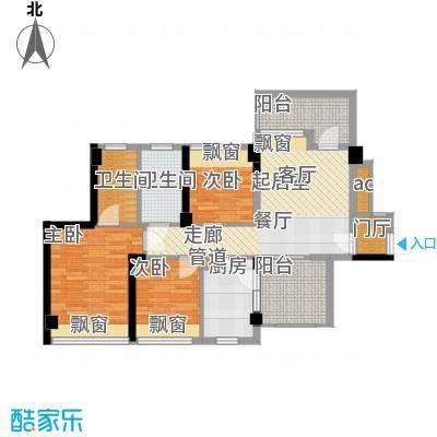 潜龙曼海宁二期88.85㎡潜龙曼海宁二期户型图奇数层89平户型图3室1厅2卫1厨户型3室1厅2卫1厨