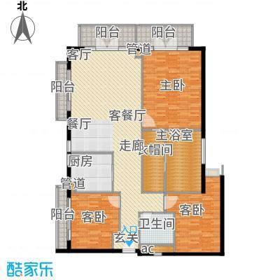 观澜湖观澜湖户型图比佩亚公寓160平3室2厅2卫1厨户型3室2厅2卫1厨