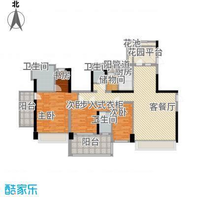 溪山171.40㎡溪山户型图一期10、13栋4-26偶数层5室2厅2卫1厨户型5室2厅2卫1厨