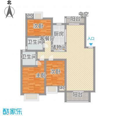 阳湖名城129.00㎡A4型户型3室2厅2卫1厨