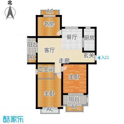 景城名轩123.12㎡2#,5#,8#楼C户型3室2厅1卫1厨