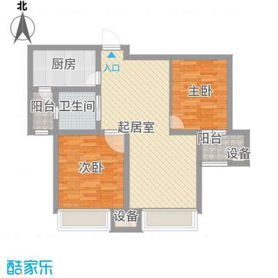 财富广场聚园87.00㎡财富广场聚园户型图e2室2厅1卫1厨户型2室2厅1卫1厨