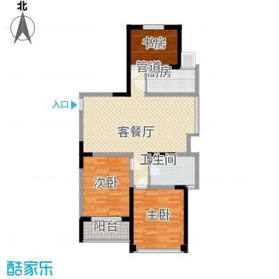 学府名门114.82㎡J户型3室2厅1卫1厨