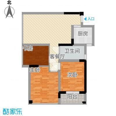 学府名门92.28㎡C户型3室2厅1卫1厨