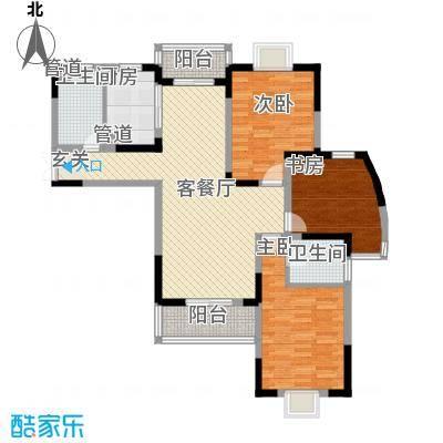 南湖家苑(二期)132.23㎡D3-01户型3室2厅2卫1厨