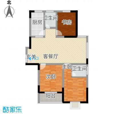 南湖家苑(二期)120.50㎡A1-01户型3室2厅2卫1厨