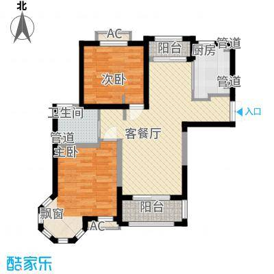天台星城90.00㎡C2户型2室2厅1卫