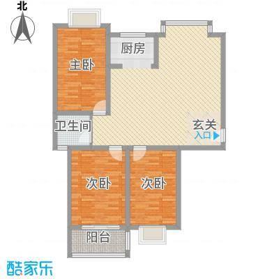 随园锦湖公寓127.68㎡随园锦湖公寓户型图C型(售完)3室2厅1卫1厨户型3室2厅1卫1厨