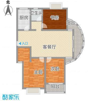 随园锦湖公寓133.68㎡随园锦湖公寓户型图F型(售完)3室2厅1卫1厨户型3室2厅1卫1厨