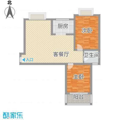 随园锦湖公寓109.00㎡随园锦湖公寓户型图D型(售完)2室2厅1卫1厨户型2室2厅1卫1厨