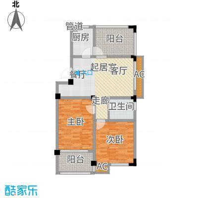 聚龙湾89.37㎡聚龙湾户型图12#E户型3室1厅1卫1厨户型3室1厅1卫1厨
