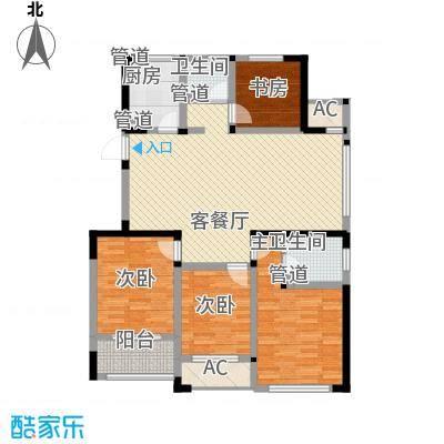 世纪华城二期铂晶湾142.77㎡A1夜皇后户型4室2厅2卫1厨