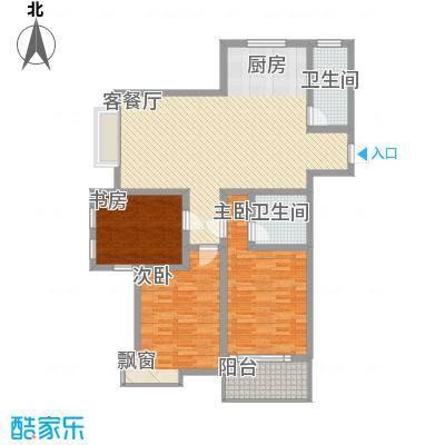 金水华都137.00㎡户型3室2厅1卫1厨