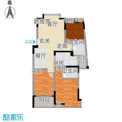 江南经典花园121.64㎡江南经典花园户型图1号楼3层C193室2厅1卫1厨户型3室2厅1卫1厨