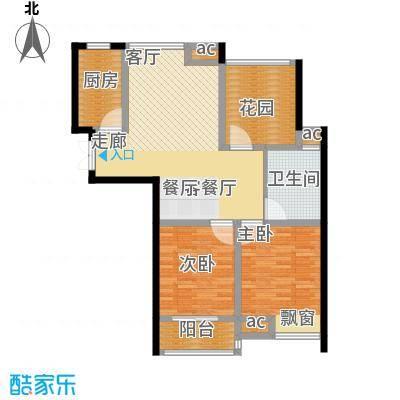 东城明居98.00㎡东城明居户型图J2室2厅1卫1厨户型2室2厅1卫1厨
