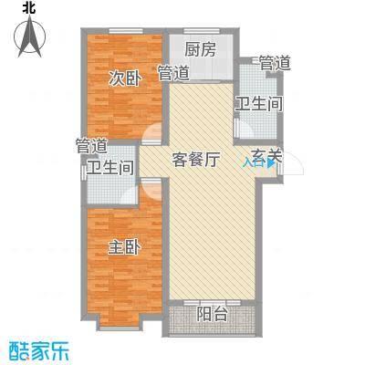 东方花园91.00㎡东方花园2室户型2室