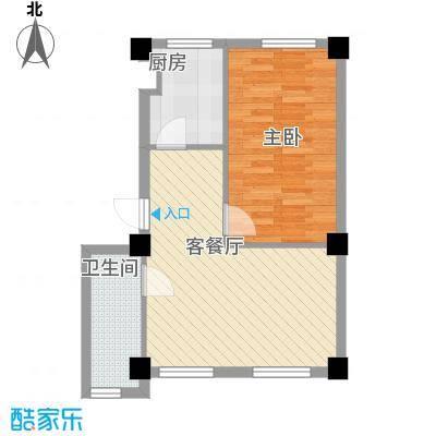 双兴财富长街59.00㎡双兴财富长街户型图1室1厅1卫1厨户型10室