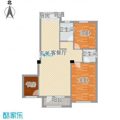 骏达阅阳楼3室户型3室2厅2卫1厨