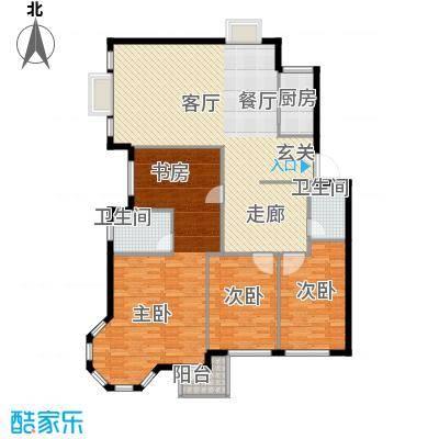 前城国际花园七十二坊141.06㎡户型3户型3室2厅2卫1厨