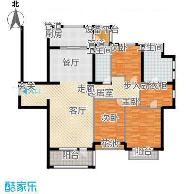 亿达东方圣克拉191.00㎡亿达东方圣克拉户型图1#楼F户型3室2厅2卫1厨户型3室2厅2卫1厨