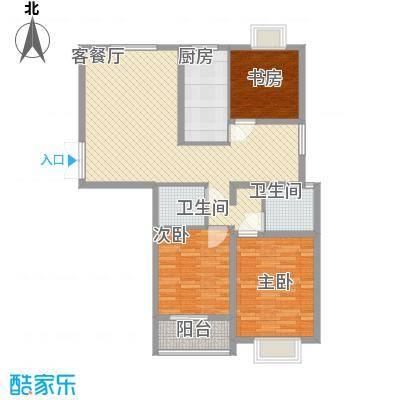 中意宝第122.03㎡中意宝第户型图户型图3室2厅2卫1厨户型3室2厅2卫1厨