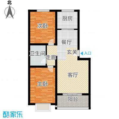 博雅A区92.70㎡5号楼D户型 两室两厅一卫户型2室2厅1卫