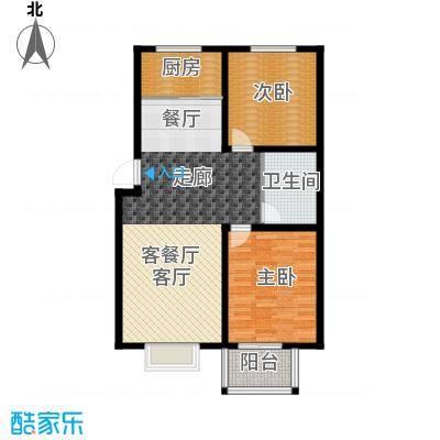 香溪茗苑90.59㎡3-G户型两室两厅一卫户型2室2厅1卫