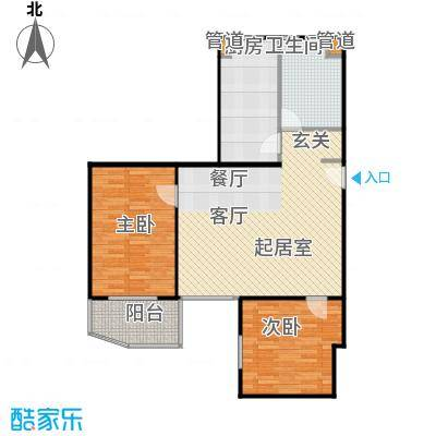 东晖花苑91.00㎡房型: 二房; 面积段: 91 -103.67 平方米; 户型
