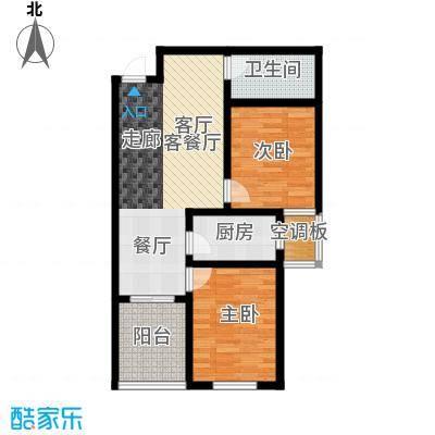 香溪茗苑89.26㎡6#8#C 两室两厅一卫户型2室2厅1卫