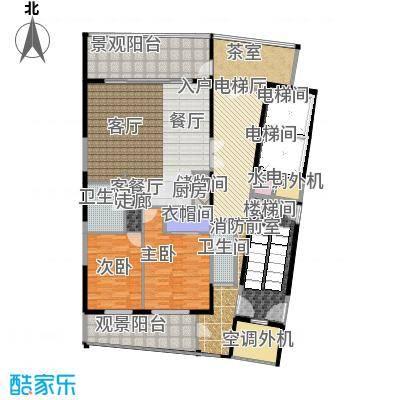 中信・半岛云邸160.00㎡1-F 两房两卫 建筑面积:约160㎡户型2室2厅2卫