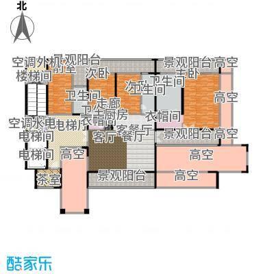 中信・半岛云邸322.00㎡2-E (高厅)三房四卫 建筑面积约:322㎡户型3室2厅4卫