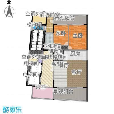 中信・半岛云邸240.00㎡2-D 1F 三房两卫 建筑面积约:240㎡户型3室2厅3卫