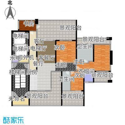 中信・半岛云邸208.00㎡1-G 三房两卫 建筑面积约:208㎡户型3室2厅2卫