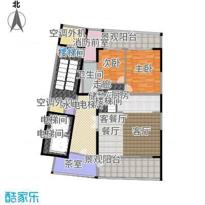 中信・半岛云邸240.00㎡1-D(高厅)1F 两房两卫 建筑面积约:240㎡户型2室2厅2卫