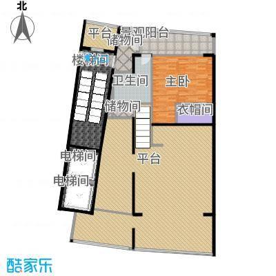 中信・半岛云邸240.00㎡1-D(高厅)2F 两房两卫 建筑面积约:240㎡户型2室2厅2卫