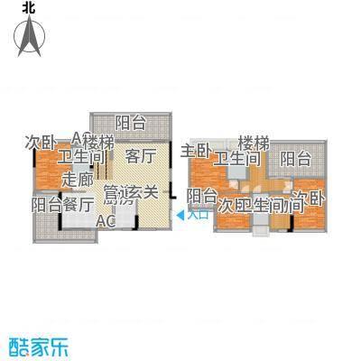 南枫禅墅155.23㎡高层复式C1和D2户型4室2厅3卫