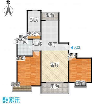 扬子江家园2室2厅1卫106平米全南户型