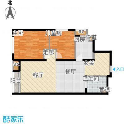 阳光100城市丽园阳光100TT公寓户型图户型2室2厅1卫