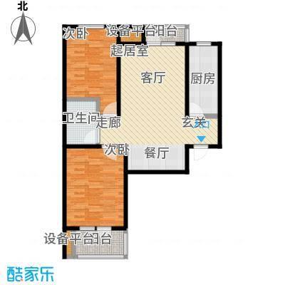 众美凤凰城Ⅱ期94.37㎡8号楼(1-04)户型
