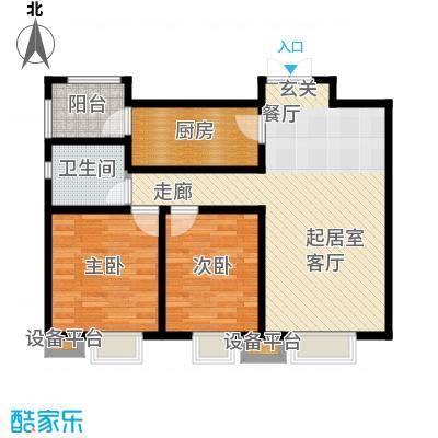 众美凤凰城Ⅱ期88.06㎡5号楼(1-02)户型