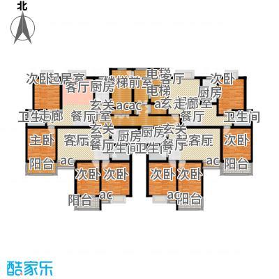 天然城Ⅲ境界户型8室4卫4厨