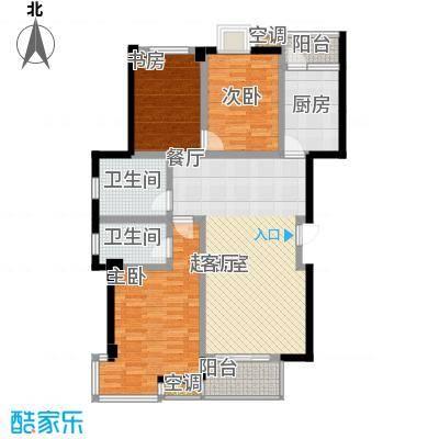 怡景.聚贤庭C标准层 三室两厅两卫 130㎡户型3室2厅2卫