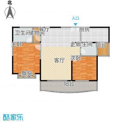 扬子江家园110.00㎡房型: 二房; 面积段: 110 -120 平方米;户型