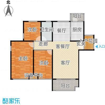 唐正・四季花园121.66㎡F2户型3室2厅1卫