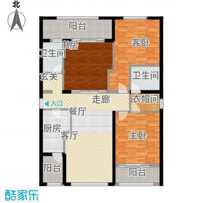 三亚远洋公馆162.00㎡D户型3室2厅2卫