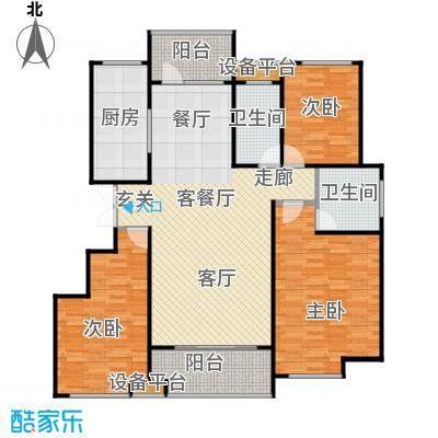 唐正・四季花园131.05㎡H2户型3室2厅2卫
