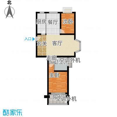 卢湾都市花园95.00㎡房型: 二房; 面积段: 95 -114 平方米; 户型