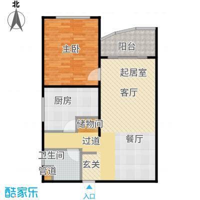 东晖花苑75.00㎡房型: 一房; 面积段: 75 -80.54 平方米; 户型