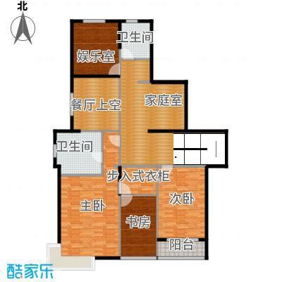 靓都公馆135.90㎡130#(B)复式上层户型10室
