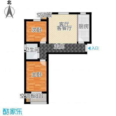 香溪茗苑88.70㎡6#8#A 两室一厅一卫户型2室1厅1卫
